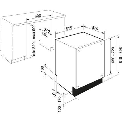 Masina de spalat vase incorporabila Franke FDW 614 D7P DOS A++, 60cm, 14 seturi, 7 programe, clasa A++