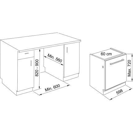 Masina de spalat vase incorporabila Franke FDW 614 D7P DOS D, 14 seturi, 8 programe, 60cm