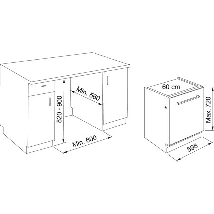 Masina de spalat vase incorporabila Franke FDW 614 D10P DOS C, 14 seturi, 10 programe, 60cm, Clasa A+++
