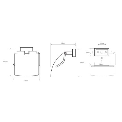 Suport hartie igienica cu aparatoare Bemeta Plaza