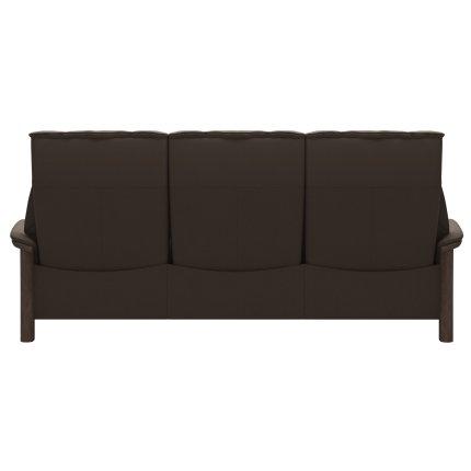Canapea cu 3 locuri Stressless Buckingham  L cu spatar inalt, cadru Walnut, tapiterie piele Batik Mole