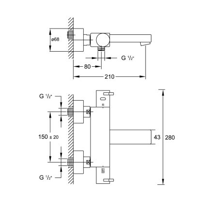 Baterie cada termostatata Steinberg Sensuality seria 120 1