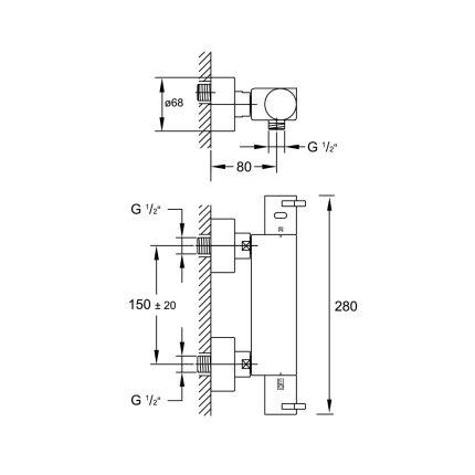 Baterie dus termostatata Steinberg Sensuality seria 120 1