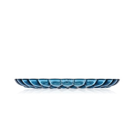 Platou Kartell Jelly design Patricia Urquiola, 45cm, albastru transparent