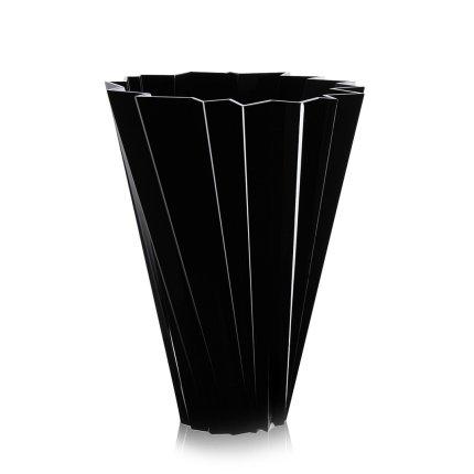 Vaza Kartell Shanghai design Mario Bellini, h44cm, negru