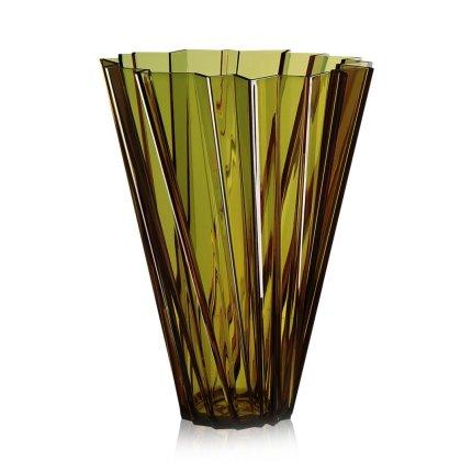 Vaza Kartell Shanghai design Mario Bellini, h44cm, verde transparent