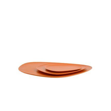 Set 3 platouri Kartell Namaste design Jean-Marie Massaud, orange