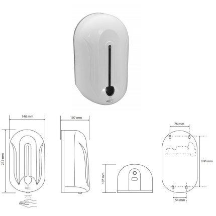 Dispenser automat dezinfectant/sapun lichid Bemeta Hotel 1100ml
