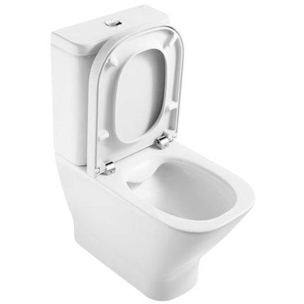 Capac WC Roca The Gap cu inchidere lenta pentru Clean Rim