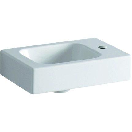 Lavoar Geberit iCon 38x28cm, orificiu baterie dreapta, fara preaplin, montare pe mobilier, alb