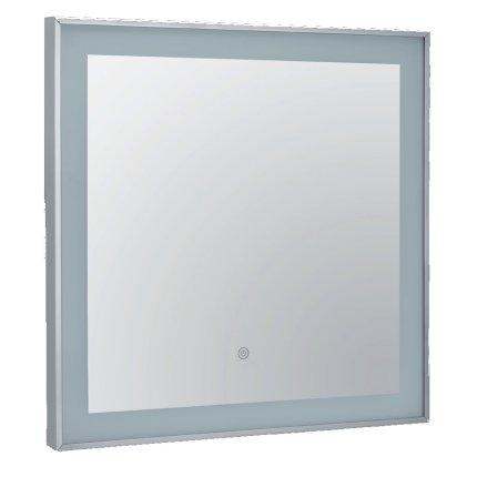 Oglinda Bemeta 60x60x4cm IP44, iluminare LED, senzor touch, crom
