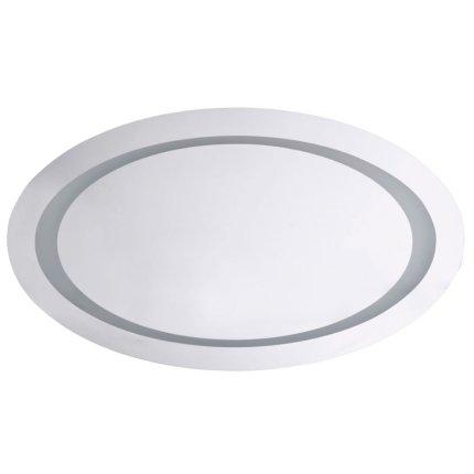 Oglinda ovala Bemeta 80x50x5cm IP44, iluminare LED, senzor miscare, alb