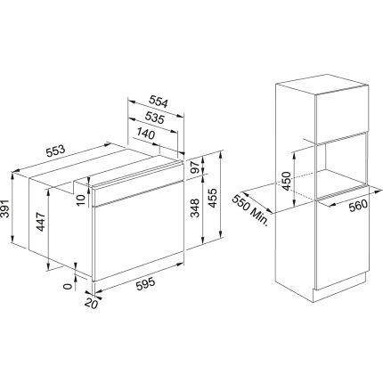 Cuptor cu microunde incorporabil Franke Smart FSM 45 MW XS 40 litri, 900W, inox
