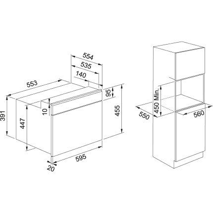 Cuptor cu microunde incorporabil Franke Mythos FMY 45 MW XS, Cookassist, 40 litri, 900W, Inox