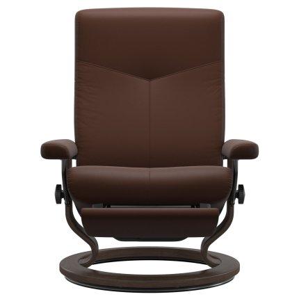 Fotoliu recliner Stressless Dover M Classic Power Leg&Back, picioare Walnut, tapiterie piele Batik Malt