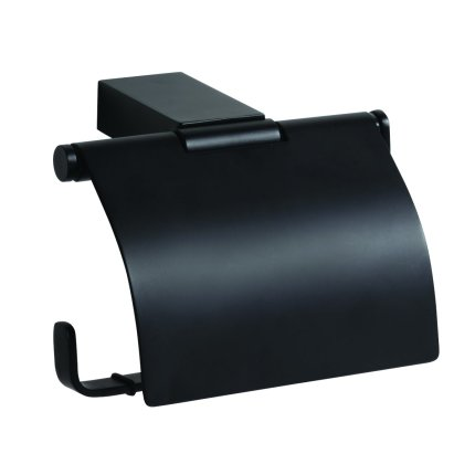 Suport hartie igienica cu aparatoare Bemeta Nero