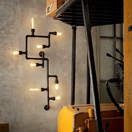 Plafoniera Ideal Lux Plumber PL5, 5x42W, 79x10x38.5cm