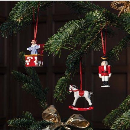 Set 3 decoratiuni brad Villeroy & Boch Nostalgic Ornaments Toys 9,5cm