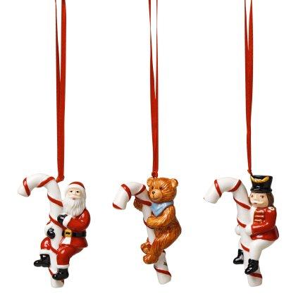Set 3 decoratiuni brad Villeroy & Boch Nostalgic Ornaments Candy Cane 13x7cm