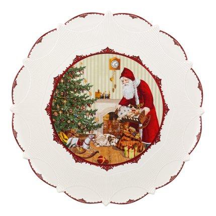 Platou Villeroy & Boch Toys Fantasy Santa and Kids 42cm