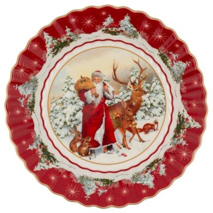 Bol Villeroy & Boch Toy's Fantasy Santa & Forest Animals 25x25cm