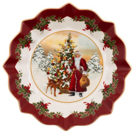 Bol Villeroy & Boch Toy's Fantasy Santa with Christmas Tree 25x25cm