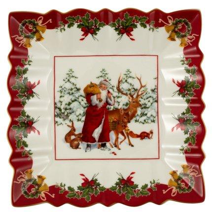 Bol patrat Villeroy & Boch Toy's Fantasy Santa&Animals 23x23cm