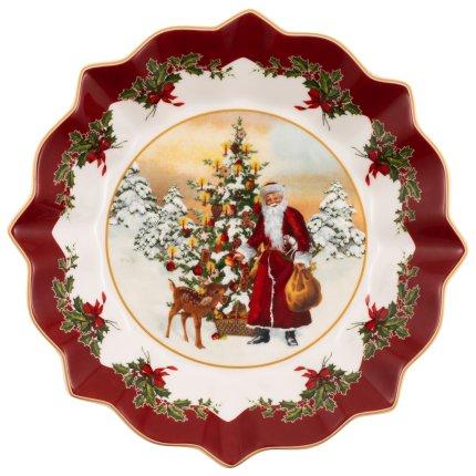 Bol cu picior Villeroy & Boch Toy's Fantasy Santa with Tree 24x24cm