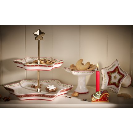 Platou etajat Villeroy & Boch Winter Bakery Delight Holly 25.5cm