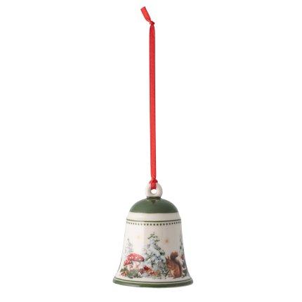 Decoratiune Villeroy & Boch My Christmas Tree Bell Squirrels 5,5x5,5cm
