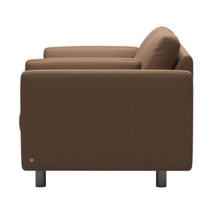 Canapea cu 2 locuri Stressless Emma E600 Classic, picioare metalice 11cm, piele Batik Latte