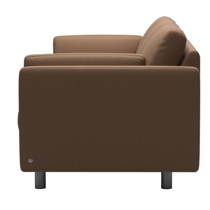 Canapea cu 3 locuri Stressless Emma E600 Classic, picioare metalice 11cm, piele Batik Latte