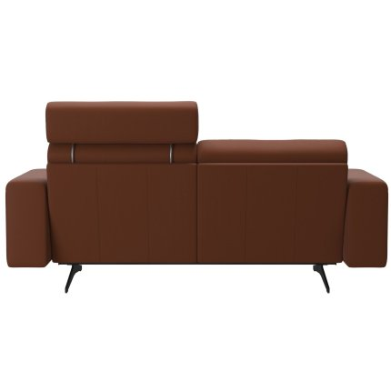 Canapea cu 2 locuri Stressless Stella, 1 tetiera, brate joase S1, picioare negru mat, tapiterie piele Paloma Cooper