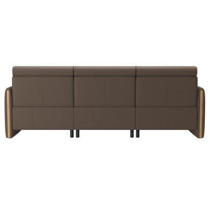 Canapea de colt Stressless Emily Arm Wood, recliner stanga, brate Oak, tapiterie piele Batik Mole