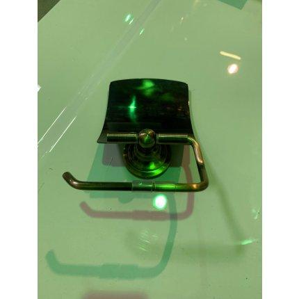 Suport hartie igienica cu aparatoare Bemeta Retro Bronz EXPUS