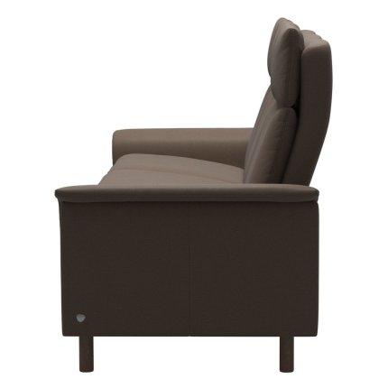 Canapea cu 3 locuri Stressless Aurora  L cu spatar inalt, cadru Walnut, tapiterie piele Batik Mole