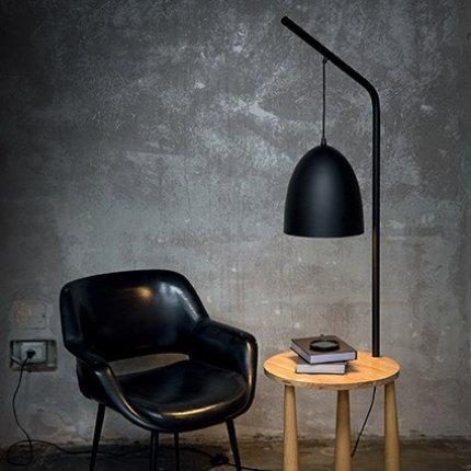 Lampadar Ideal Lux Piano PT1, 1x60W, 43x164x48cm, negru