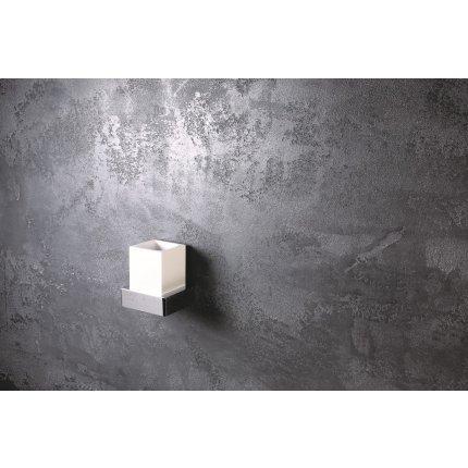 Pahar cu suport Bemeta Gamma de perete, alb