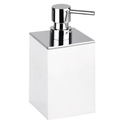 Dispenser sapun lichid Bemeta Gamma patrat, alb