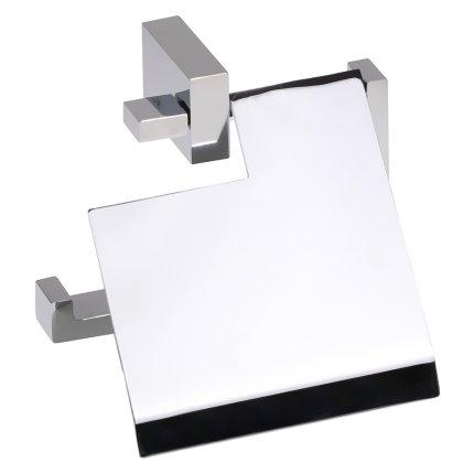 Suport hartie igienica cu aparatoare Bemeta Gamma, argintiu