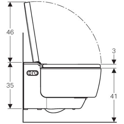 Set vas WC suspendat Geberit AquaClean Mera Comfort, capac inchidere lenta si functie bideu electric
