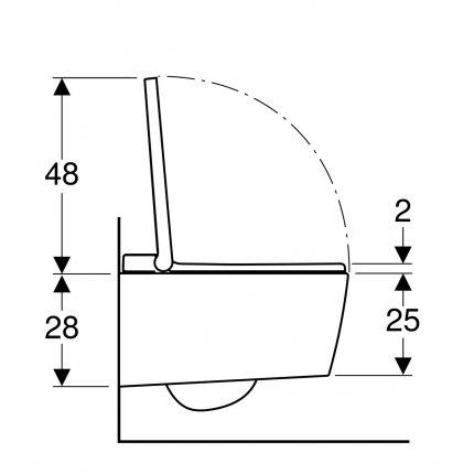 Set vas WC suspendat Geberit AquaClean Sela, capac inchidere/deschidere lenta si functie bideu electric, finisaj Crom