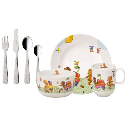 Set copii Villeroy & Boch Hungry as a Bear, 7 piese, alb