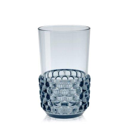 Pahar cocktail Kartell Jellies Family design Patricia Urquiola, d 8.5cm, h15cm, albastru transparent