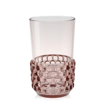 Pahar cocktail Kartell Jellies Family design Patricia Urquiola, d 8.5cm, h15cm, roz transparent