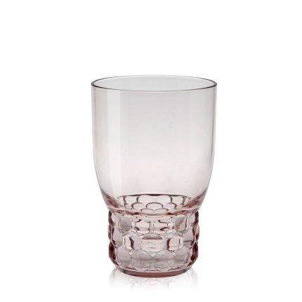 Pahar apa Kartell Jellies Family design Patricia Urquiola, d 8.5cm, h13cm, roz transparent