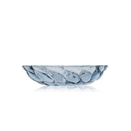 Farfurie adanca Kartell Jellies Family design Patricia Urquiola, 22cm, albastru transparent