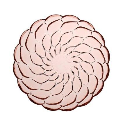 Farfurie adanca Kartell Jellies Family design Patricia Urquiola, 22cm, roz transparent
