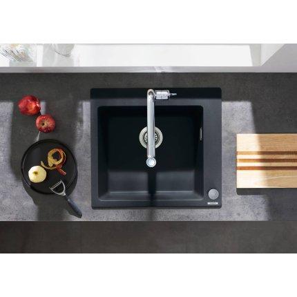 Chiuveta bucatarie Hansgrohe S510-F450 SilicaTec 450, cu 1 cuva, 51x56x19cm, concrete grey