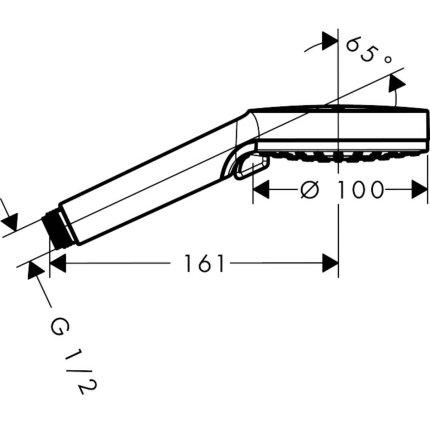 Para de dus Hansgrohe Vernis Blend Vario 100 cu 2 tipuri de jet, crom